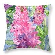 Lupine Time Throw Pillow by Carol Wisniewski