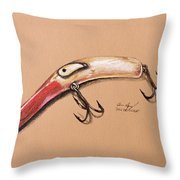 Lure Throw Pillow by Aaron Spong