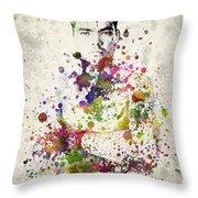 Lyoto Machida Throw Pillow by Aged Pixel