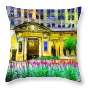 Lyric Opera House Of Chicago Throw Pillow by Ely Arsha