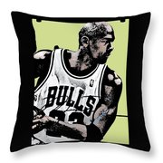 M J Throw Pillow by Tanysha Bennett-Wilson