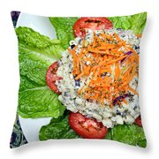 Macaroni Salad 1 Throw Pillow by Andee Design