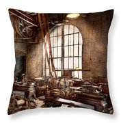 Machinist - I Like Big Tools Throw Pillow by Mike Savad