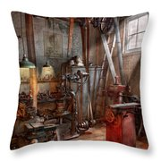 Machinist - The Modern Workshop  Throw Pillow by Mike Savad