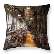 Machinist - Welcome To The Workshop Throw Pillow by Mike Savad