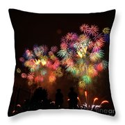 Macy's July 4th Fireworks New York City  Throw Pillow by Nishanth Gopinathan