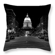 Madison Wi Capitol Dome Throw Pillow by Trever Miller