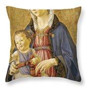 Madonna And Child Throw Pillow by Domenico Bigordi Domenico Ghirlandaio