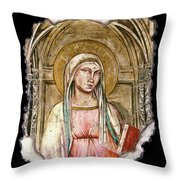 Madonna Del Parto Throw Pillow by Steve Bogdanoff