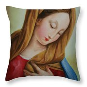 Madonna Throw Pillow by Marna Edwards Flavell