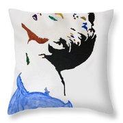 Madonna True Blue Throw Pillow by Stormm Bradshaw