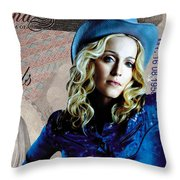 Madonna Throw Pillow by Unknown