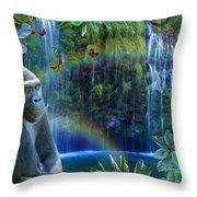 Magic Jungle Throw Pillow by Alixandra Mullins