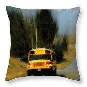 Magic School Bus Throw Pillow by Ana Lusi