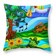 Magical Earth Throw Pillow by Genevieve Esson