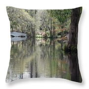 Magnolia Plantation Gardens Series II Throw Pillow by Suzanne Gaff