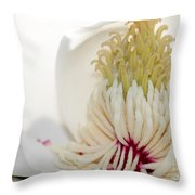 Magnolia Sticky Fingers Throw Pillow by Sabrina L Ryan
