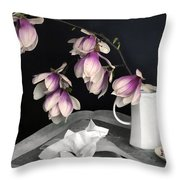 Magnolia Still Throw Pillow by Diana Angstadt