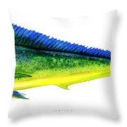 Mahi Mahi Throw Pillow by Charles Harden