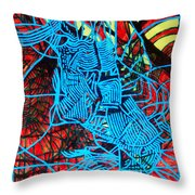 Maiden In Blue - Mary In The Temple Throw Pillow by Gloria Ssali