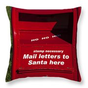 Mail Letters To Santa Here Throw Pillow by Garry Gay