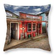 Main Street Throw Pillow by Debra and Dave Vanderlaan