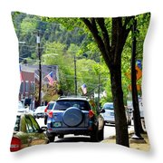 Main Street Throw Pillow by Patti Whitten