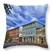 Main Street Usa Throw Pillow by Tom Mc Nemar