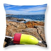 Maine Coast Throw Pillow by Olivier Le Queinec