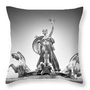 Maine Monument Throw Pillow by Mike McGlothlen