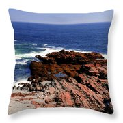 Maine Seascape Throw Pillow by Kathleen Struckle