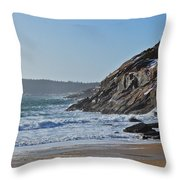 Maine Surfing Scene Throw Pillow by Meandering Photography