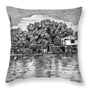 Majuro Harbor Throw Pillow by Lew Davis