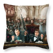 Make Way For The Bad Guys Col Throw Pillow by Ylli Haruni