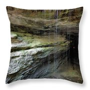 Mammoth Cave Entrance Throw Pillow by Kristin Elmquist