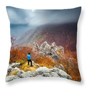 Man And The Mountain Throw Pillow by Evgeni Dinev