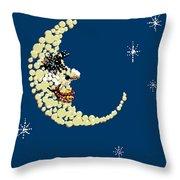 Man In The Moon Dazzled Throw Pillow by R  Allen Swezey