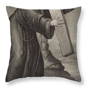 Man Of Sorrow Throw Pillow by English School
