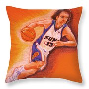 Man On Fire Throw Pillow by Marilyn Smith