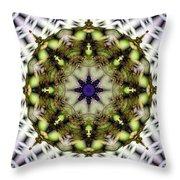 Mandala 21 Throw Pillow by Terry Reynoldson