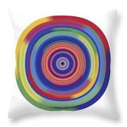 Mandala 3 Throw Pillow by Rozita Fogelman