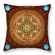Mandala Arabia Sp Throw Pillow by Bedros Awak