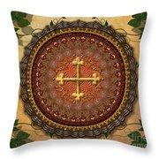 Mandala Armenian Cross Sp Throw Pillow by Bedros Awak