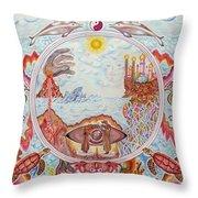 Mandala Atlanits Throw Pillow by Lida Bruinen