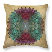 Mandala Crystal Throw Pillow by Filippo B