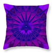 Mandala For Ca Symptoms Throw Pillow by Sarah  Niebank