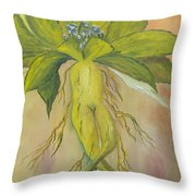 Mandrake Throw Pillow by Conor Murphy
