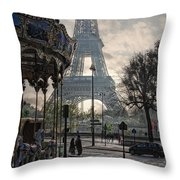 Manege Parisienne Throw Pillow by Joachim G Pinkawa