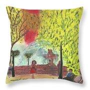 Manhattan Park 1 Throw Pillow by John Williams