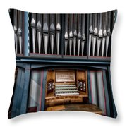 Manual Pipe Organ Throw Pillow by Adrian Evans